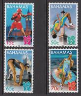 2012 Bahamas London 2012 Olympics Boxing Swimming   Complete Set Of 4 MNH - Bahamas (1973-...)