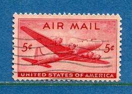 ⭐ Etats Unis - YT PA N° 33 - Oblitéré - Poste Aérienne - 1946 ⭐ - 2a. 1941-1960 Usados