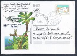 Postal Stationery 40 Years Airline TAP Lisbon/Luanda/Lourenço Marques. Obliteration CTT Transported By TAP.Torre Belém - Postal Stationery