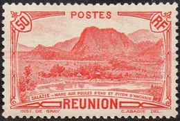 Réunion - N° 136 * Vue - Salazie, Mare Aux Poules D'eau Et Piton D'Auchain - 50c Rouge - Unused Stamps