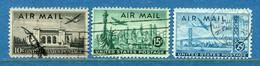 ⭐ Etats Unis - YT PA N° 36 à 38 - Oblitéré - Poste Aérienne - 1947 ⭐ - 2a. 1941-1960 Usados