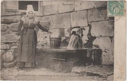 Cantal : CHAUDES  AIGUES ;  Grande  Source  Du Par Et  Costume  Primitif - Sonstige Gemeinden