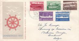 Pays Bas - Lettre FDC De 1957 - Oblit 's Gravenhaghe - Bateaux - Valeur 32 Euros - Covers & Documents