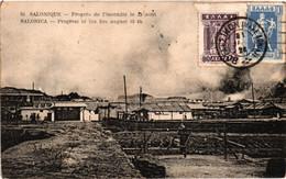Grèce - Salonique - Progrès De L'incendie Le 19 Août - Griechenland