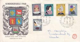 Pays Bas - Lettre FDC De 1960 - Oblit 's Gravenhaghe - Costumes - Coiffes - Valeur 20 Euros - Covers & Documents
