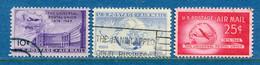 ⭐ Etats Unis - YT PA N° 41 à 43 - Oblitéré - Poste Aérienne - 1949 ⭐ - 2a. 1941-1960 Usados