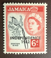Jamaica 1962 Independence 6d Doctor Bird Birds MNH - Ohne Zuordnung