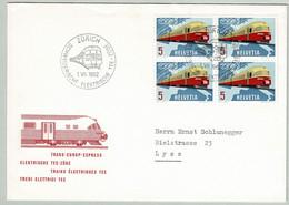 Schweiz / Helvetia 1962, Brief Zürich - Lyss, TEE, Trans Europ Express - Treinen