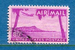 ⭐ Etats Unis - YT PA N° 45 - Oblitéré - Poste Aérienne - 1952 ⭐ - 2a. 1941-1960 Usados