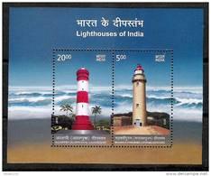INDIA, 2012, Lighthouses Of India, Set 2 V, Miniature Sheet,  MNH, (**) - Nuevos