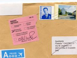 Envelope To Italy And Returned - Sticker RETOUR RINVIO - Translocato - Déménagé - 15/10/2020 - Cartas