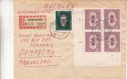 Allemagne - République Démocratique - Lettre Recom De 1961 - Oblit Luckenwalde - échecs - Bloc De Avec Chiffres - Cartas