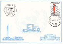 UNO WIEN Weiße Karte Nr. 17, Ausstellungskarte: Wien 1981 - Cartas