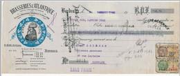 FRANCE - Fiscaux Type Daussy 10c Et 2 Francs PERFORES BAB Sur Traite Brasseries L'Atlantique - Bordeaux 1931 - Fiscaux