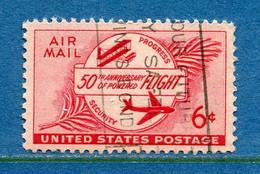 ⭐ Etats Unis - YT PA N° 46 - Oblitéré - Poste Aérienne - 1953 ⭐ - 2a. 1941-1960 Usados