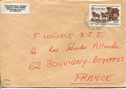 Austria (1982) - Busta Per La Francia - 1981-90 Cartas