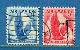 ⭐ Etats Unis - YT PA N° 47 Et 48 - Oblitéré - Poste Aérienne - 1954 à 1958 ⭐ - 2a. 1941-1960 Usados