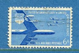 ⭐ Etats Unis - YT PA N° 49 - Oblitéré - Poste Aérienne - 1957 ⭐ - 2a. 1941-1960 Usados