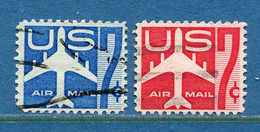 ⭐ Etats Unis - YT PA N° 50 Et 51 - Oblitéré - Poste Aérienne - 1958 à 1960 ⭐ - 2a. 1941-1960 Usados