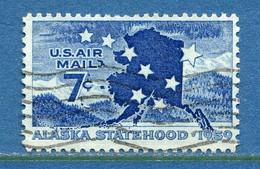 ⭐ Etats Unis - YT PA N° 52 - Oblitéré - Poste Aérienne - 1959 ⭐ - 2a. 1941-1960 Usados