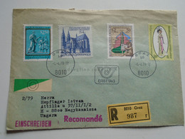 AV648.10   Austria  Recommanded  Cover Einschreiben  Cancel 1979 GRAZ   Sent To Hungary Nagykanizsa - 1971-80 Cartas