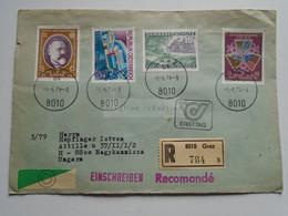AV648.11   Austria  Recommanded  Cover Einschreiben  Cancel 1979 GRAZ   Sent To Hungary Nagykanizsa - 1971-80 Cartas