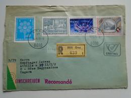 AV648.13  Austria  Recommanded  Cover Einschreiben  Cancel 1979 GRAZ  - Sent To Hungary Nagykanizsa - 1971-80 Cartas