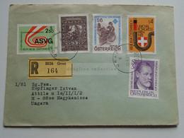 AV648.14  Austria  Recommanded  Cover Einschreiben  Cancel 1981 GRAZ  - Sent To Hungary Nagykanizsa - 1981-90 Cartas