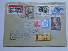 AV648.15  Austria  Recommanded  Cover Einschreiben  Cancel 1980 GRAZ  - Sent To Hungary Nagykanizsa - 1971-80 Cartas
