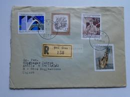 AV648.16 Austria  Recommanded  Cover Einschreiben  Cancel 1980 GRAZ  - Sent To Hungary Nagykanizsa - 1971-80 Cartas