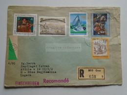 AV648.18 Austria  Recommanded  Cover Einschreiben  Cancel 1980 GRAZ  - Sent To Hungary Nagykanizsa - 1971-80 Cartas