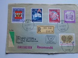 AV648.19 Austria  Recommanded  Cover Einschreiben  Cancel 1980 GRAZ  - Sent To Hungary Nagykanizsa - 1971-80 Cartas