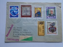 AV648.20 Austria  Recommanded  Cover Einschreiben  Cancel 1982 GRAZ  - Sent To Hungary Nagykanizsa - 1981-90 Cartas
