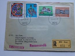 AV648.21 Austria  Recommanded  Cover Einschreiben  Cancel 1982 GRAZ  - Sent To Hungary Nagykanizsa - 1981-90 Cartas