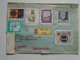 AV648.22 Austria  Recommanded  Cover Einschreiben  Cancel 1979 GRAZ  - Sent To Hungary Nagykanizsa - 1971-80 Cartas