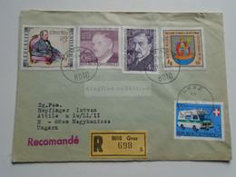 AV648.23 Austria  Recommanded  Cover Einschreiben  Cancel 1981 GRAZ  - Sent To Hungary Nagykanizsa - 1981-90 Cartas