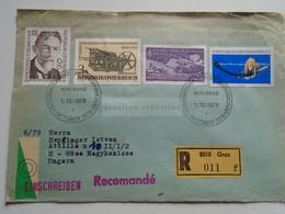 AV649.1 Austria  Recommanded  Cover Einschreiben  Cancel 1979 GRAZ  - Sent To Hungary Nagykanizsa - 1971-80 Cartas