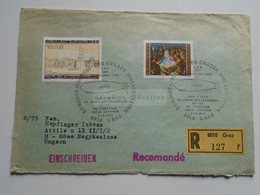 AV649.2 Austria  Recommanded  Cover Einschreiben  Cancel 1979 GRAZ  - Sent To Hungary Nagykanizsa - 1971-80 Cartas