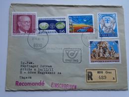 AV649.5 Austria  Recommanded  Cover Einschreiben  Cancel 1981 GRAZ  - Sent To Hungary Nagykanizsa - 1981-90 Cartas