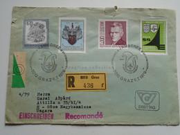 AV649.6 Austria  Recommanded  Cover Einschreiben  Cancel 1979 GRAZ  Scout Jamboree - Sent To Hungary Nagykanizsa - 1971-80 Cartas