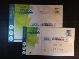 FRANCE   Lot De 2 Enveloppes LETTRE MAX Marchandises  20g Et 50g - Prêts-à-poster:  Autres (1995-...)