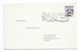 1961 Christkindl Cover/brief To Polen - 1961-70 Cartas