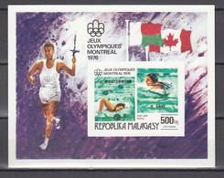 Madagaskar 1976,1block,Imperforated,swimming,zwemmen,schwimmen,piscine,natación,nuoto,MNH/Postfris(L3598) - Summer 1976: Montreal