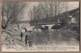CPA 83 - CABASSE - Le Pont Sur L'Issole - Coin Où On Prend Truites Et On Mange à L'Hôtel BRUN TB ANIMATION Pêcheurs - Autres Communes