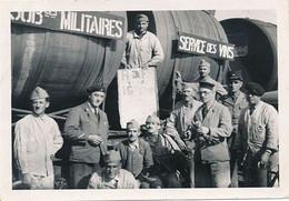 WAGON FOUDRES - SUBSTANCES MILITAIRES SERVICE DES VINS (27 AOUT 1939 13 NOVEMBRE 1939)(DIM 15 X 10.5) - Guerra, Militares