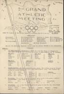 Guerre 40 Programme Athletic Meeting JO Grande Caserne St Saint Denis Paris 1941 Frontstalag Pour Prisonniers Internés - Programs