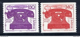 SWEDEN 1976 Telephone Centenary MNH / **.  Michel 939-40 - Nuevos