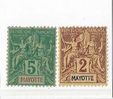 ⭐ Mayotte Y.T N° 2 Et 4**  Neuf Sans Charnière⭐ - Neufs