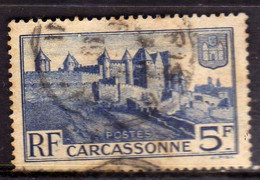 FRANCIA FRANCE 1938 CARCASSONNE MEDIEVAL WALLS FR 5f USATO USED OBLITERE' - Gebruikt