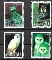 CHINA 1995 Owls, Birds  MNH - Hiboux & Chouettes
